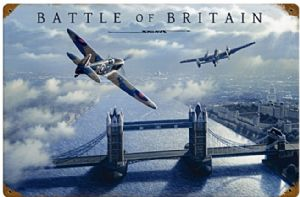 Battle of Britain (by Stan Stokes) large rusted metal sign (pst 1812)